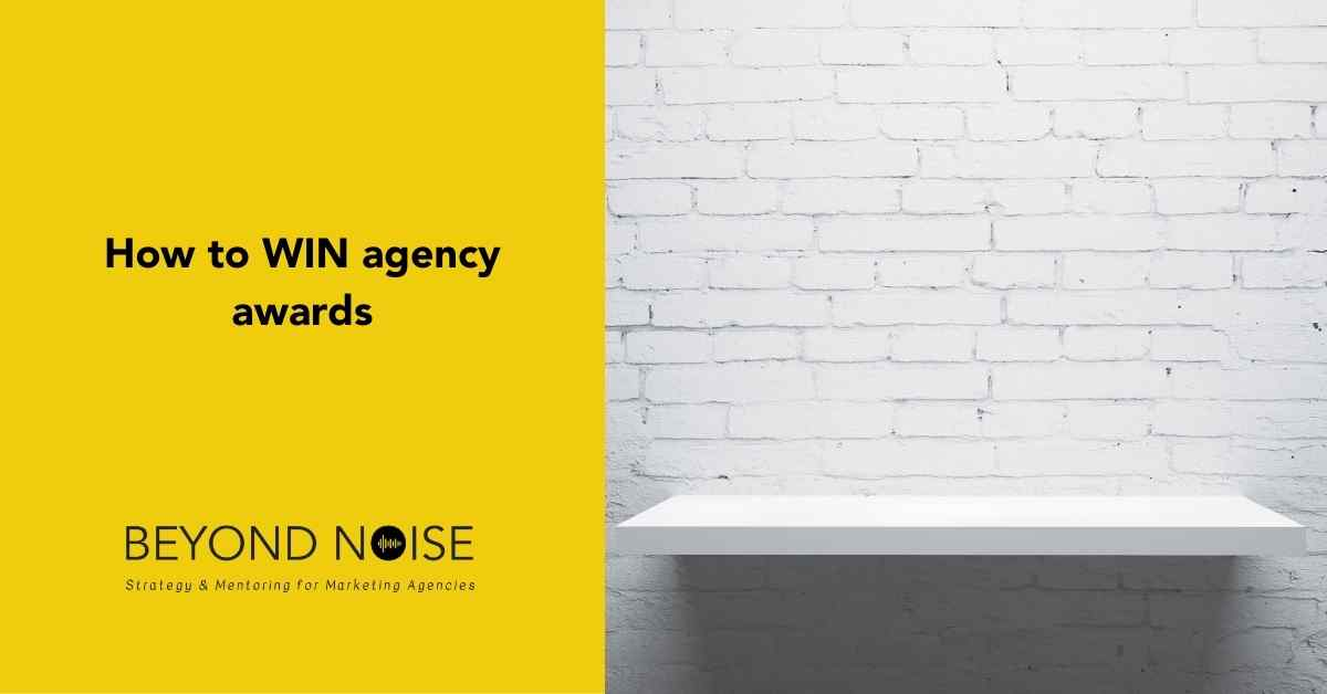 How to win agency awards. Image of an empty shelf.